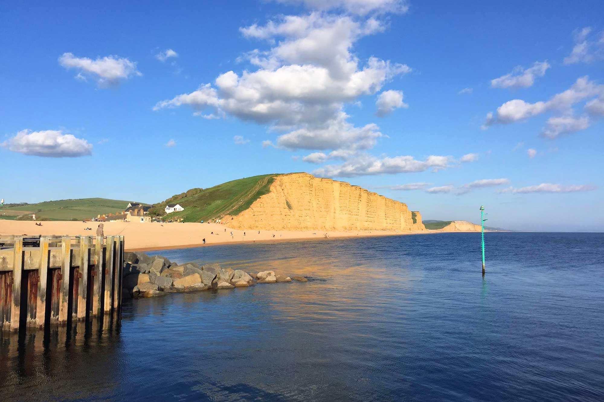 East Cliff, West Bay, Is The Famous Cliff In The Drama Series Broadchurch