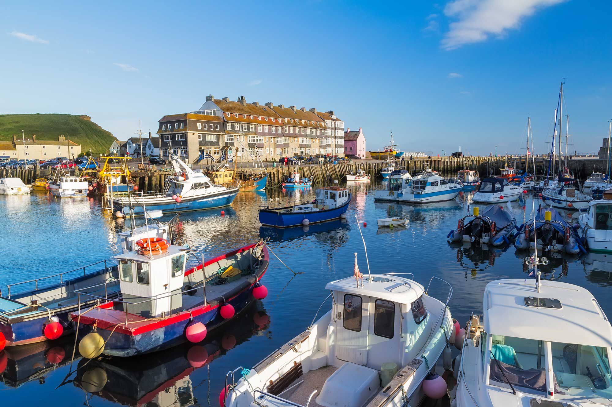 The Stunning West Bay Harbour Is Just A Moment's Walk From Heatherbell Cottage